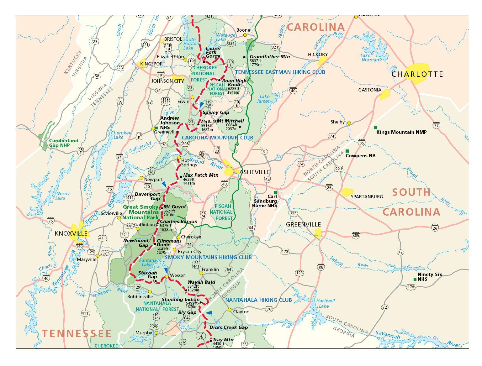 Appalachian trail, springer mountain to davenport gap [georgia.