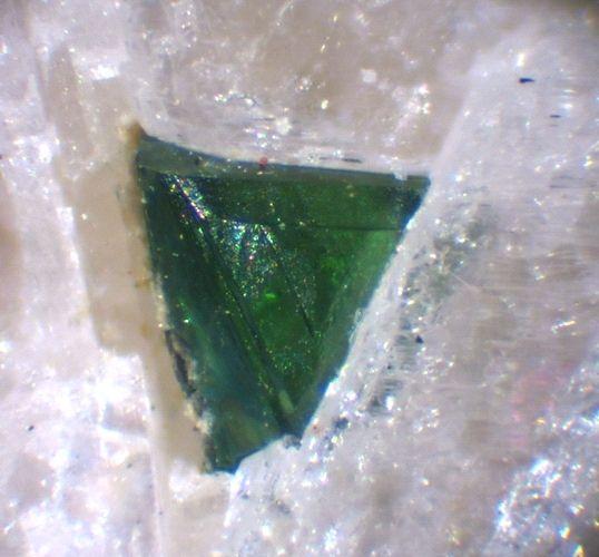 Fluornatromicrolite, (Na,Ca,Bi)2Ta2O6F,, Qixaba pegmatite, Brazil. Fov 0.5 mm. Collection/Photo L. Mattei