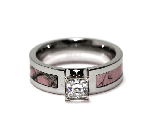 realtree ap pink camo engagement ring by titanium buzz pink camo wedding ring sets with real diamonds - Pink Camo Wedding Ring Sets