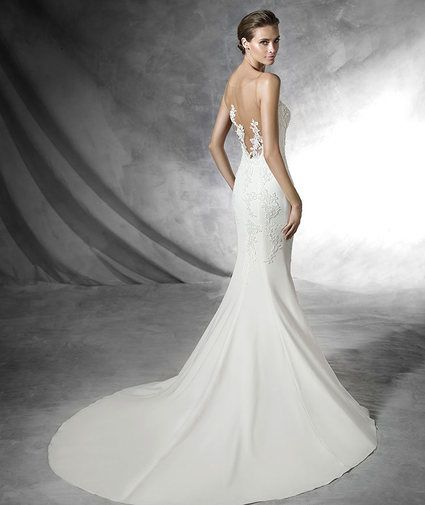 show your beautiful back in this wonderful dress by pronovias