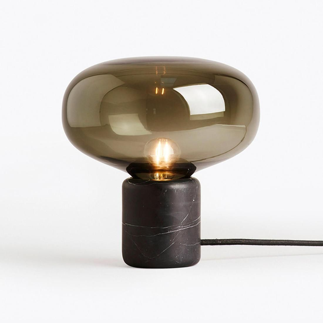 lampe a poser verre fume
