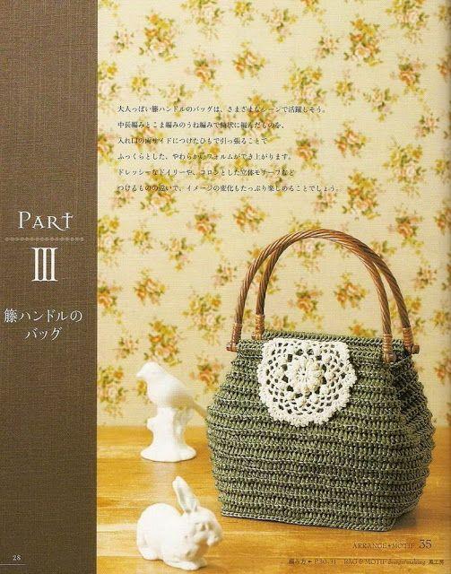 PATRONES GRATIS DE CROCHET: Patrón bolso decorado con aplique a ...