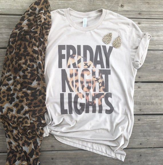 Friday night lights | football tee | football tshirt |  high school football | football mom | football |leopard print | leopard football #fridaynightlights