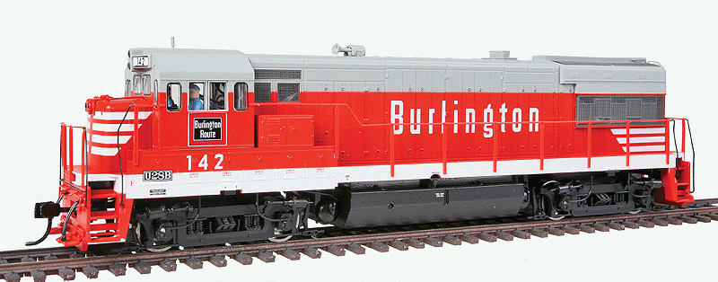 Walthers Proto Ho 920 41650 Ge U28b Locomotive Chicago Burlington And Quincy 142 Equipped With Sound And Dcc Modeltrai Modelleisenbahn Eisenbahn Gleise