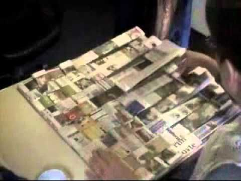 How to make a Woven Newspaper Tote / Bag Part 3 of 5