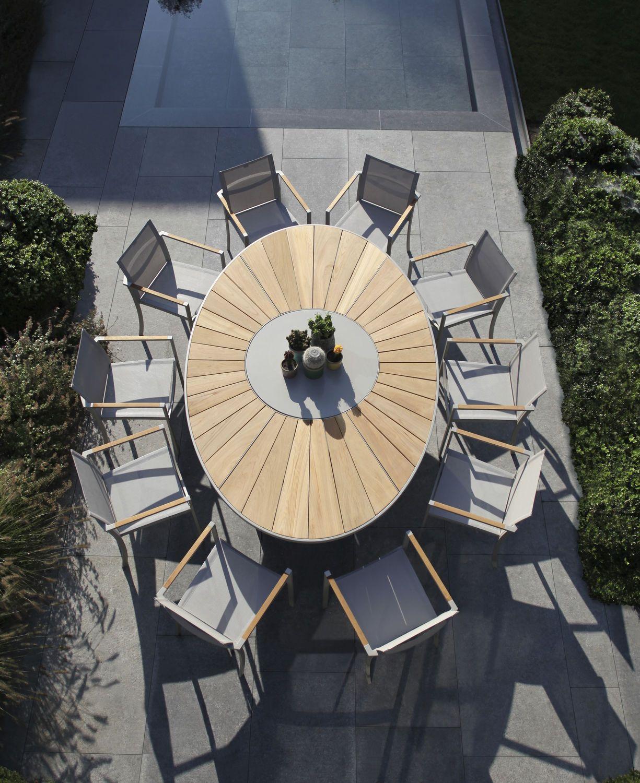 Table ovale / ronde / de jardin / contemporaine OZN 240 by Kris Van ...