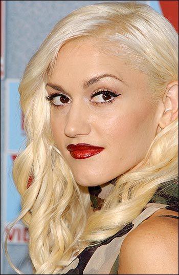 Gwen Red Lip Google Search Platinum Blonde Hair Hair Highlights Platinum Blonde
