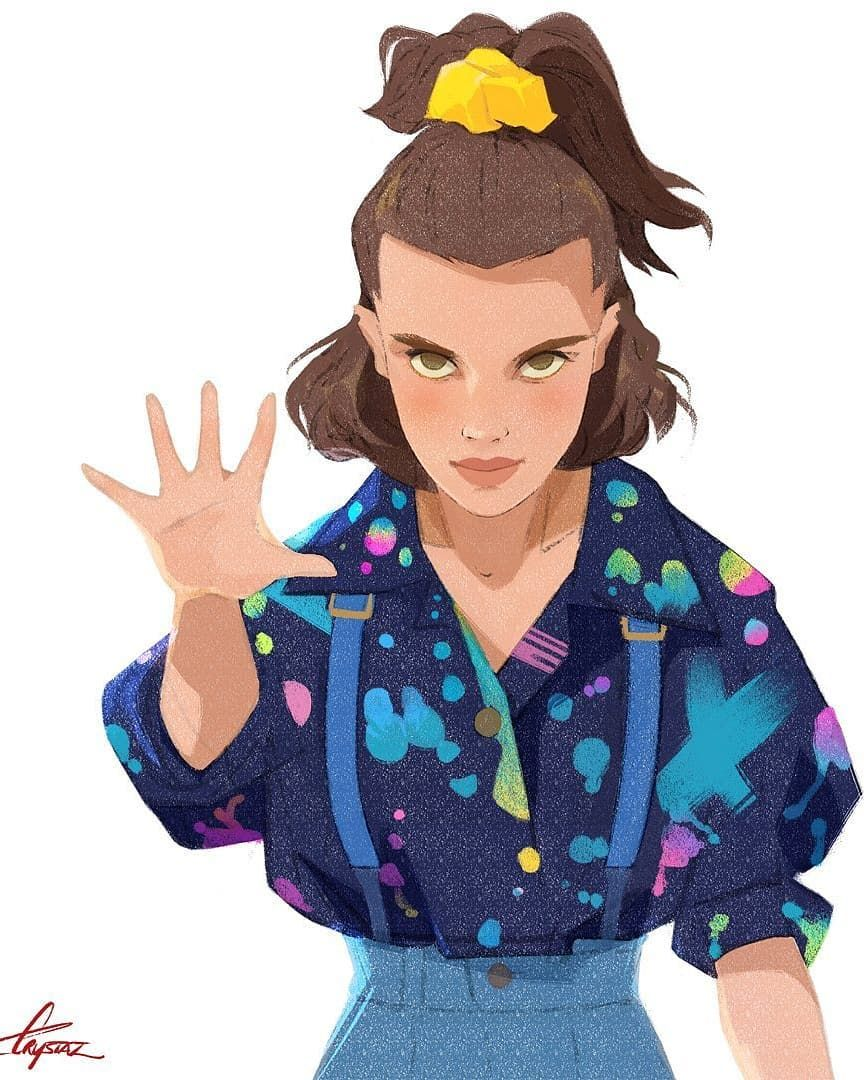 Eleven Stranger Things 3 Fan Artwork This Is An Amazing Illustration Made By Artist Crystal Jade Vaughan Crystalj Dibujos Bonitos Dibujos Dibujos De Famosos
