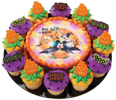 mickey friends boo to you too halloween edible image cake topper 9