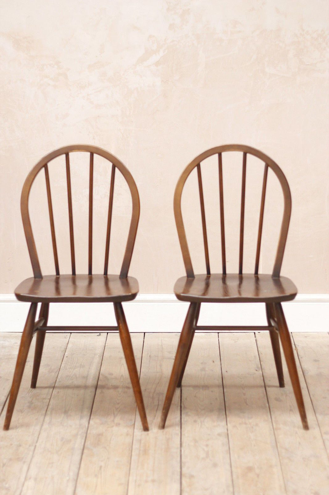 Vintage Mid Century Ercol Stickback Chairs Chair, Mid