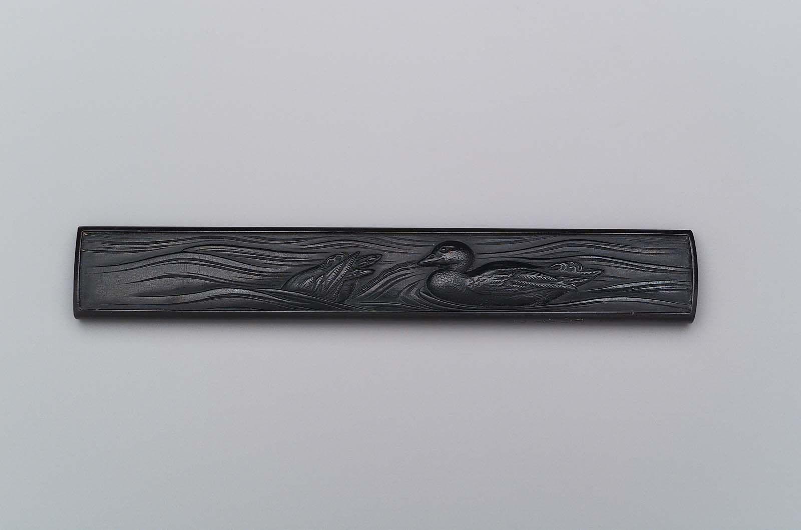 Kozuka with design of ducks and water nakagaki motohiro