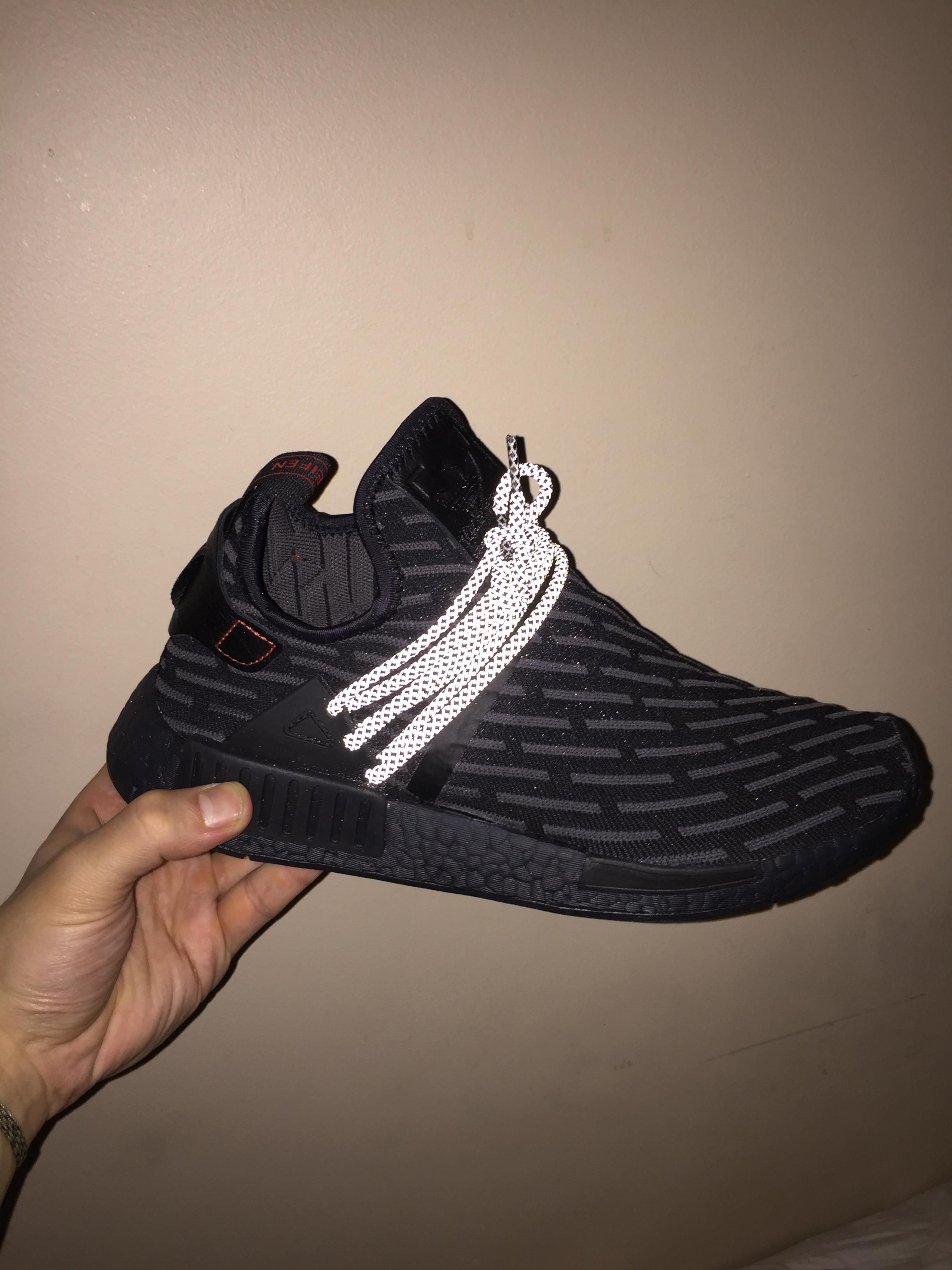 3e4aca38d109a Adidas NMD XR1 PK Triple Black custom