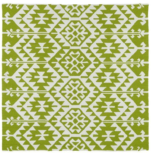 Seaside Lime Green Global Indoor/Outdoor Rug (5\'9 x 5\'9 Square ...