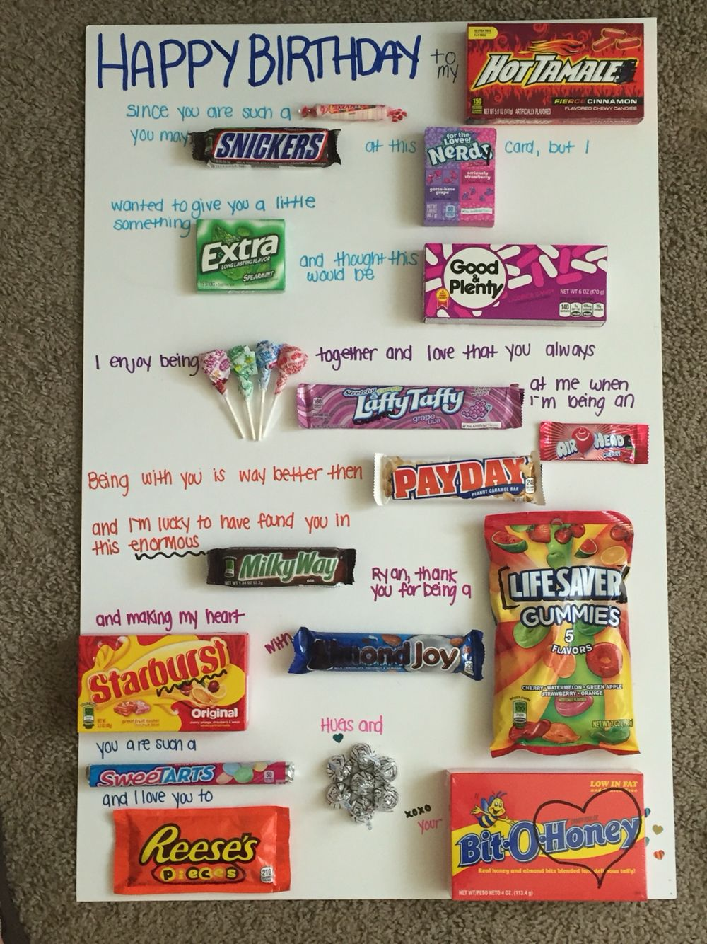 Pin By Meggie Schwartz On Gift Ideas Candy Birthday Cards