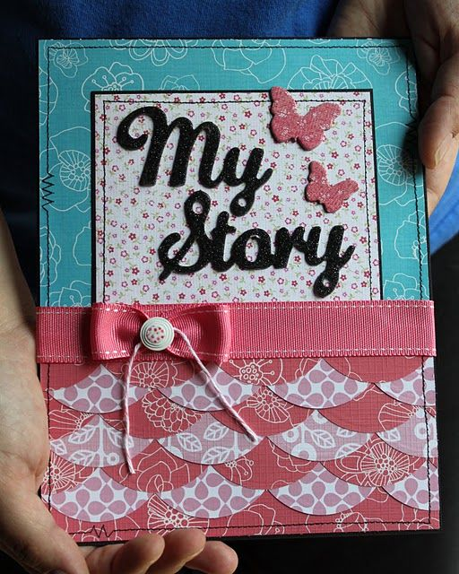 Craft Book Cover Page Decoration : Neat idea for my scrapbooks front page i want a scrapbook