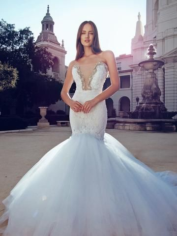 Swvorski Backless Mermaid Wedding Dresses