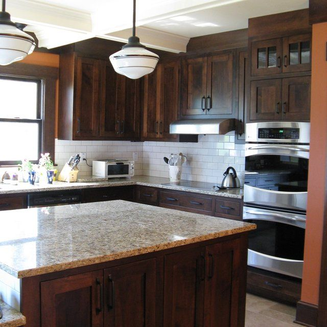 Solid Wood Kitchen Walnut Cabinets: Dear Hubby, Light Countertop Are OK! And Pretty...