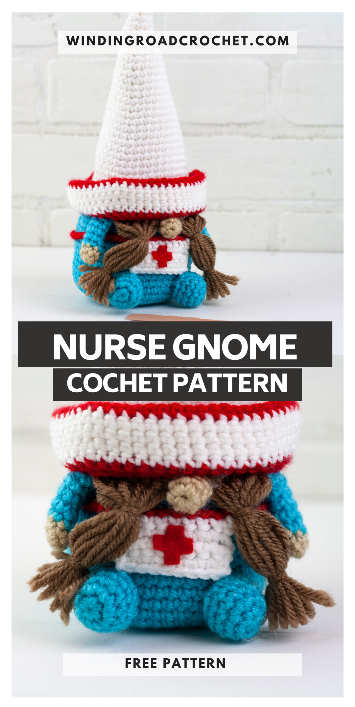 Free Pattern: Nurse Crochet Gnome