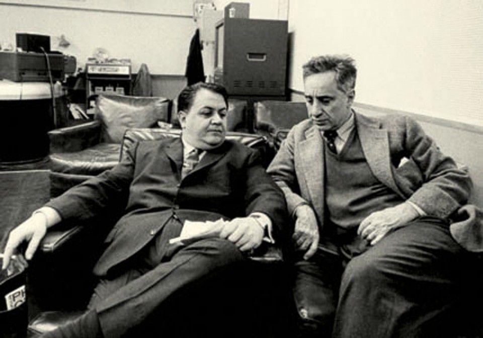 Manos Hatzidakis, Elia Kazan-recording session for America, America, 1963.