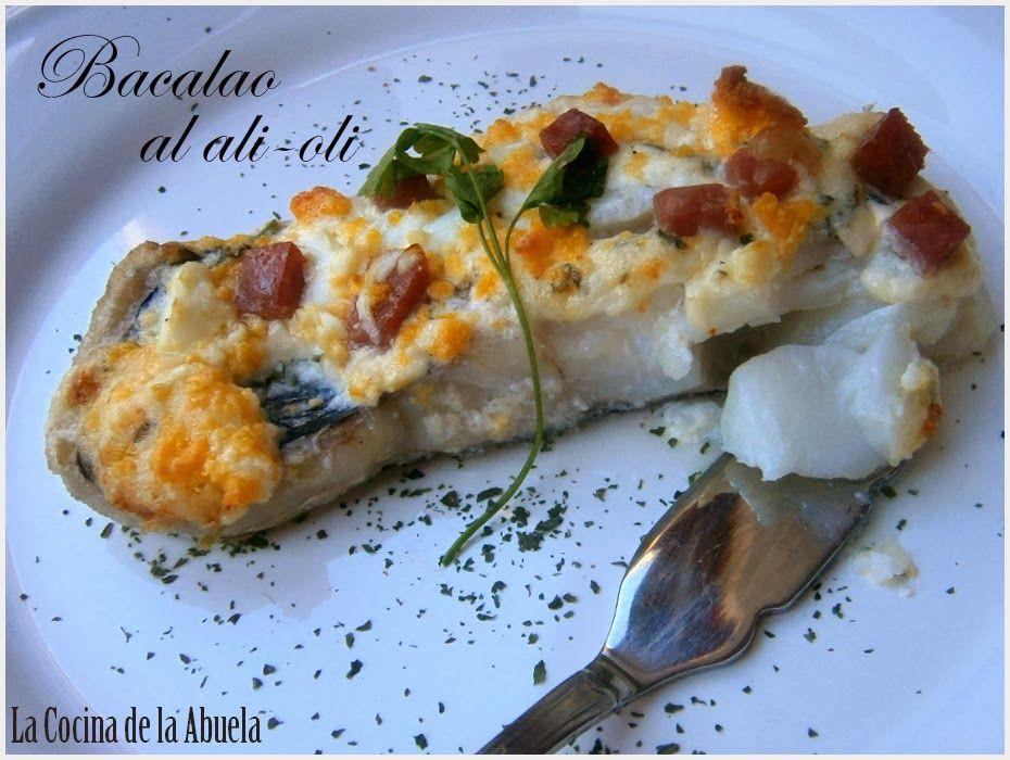 La cocina de la abuela bacalao al horno con alioli bon app tit pinterest mediterranean Horno de la abuela