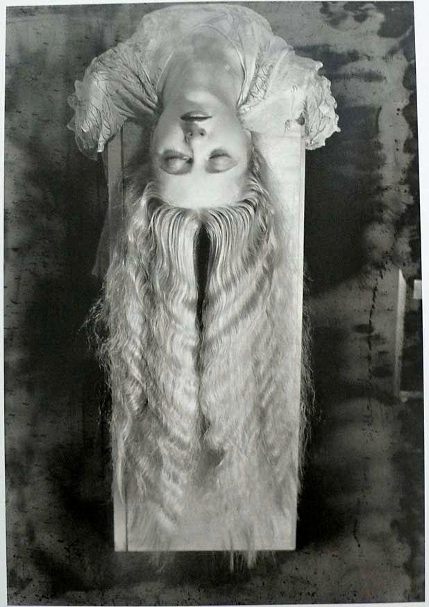 Man Ray 1927 Woman with Hair   #photograph, #fotopedia, #woman, #creepy,