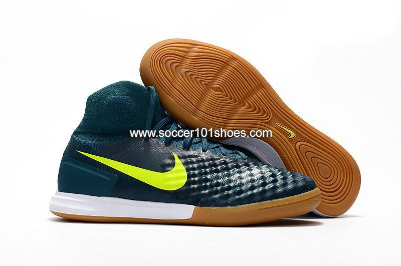 online store 0ecb1 aa438 Nike Men s MagistaX Proximo II Ic Indoor Football Soccer Shoes Dark Green   73.00