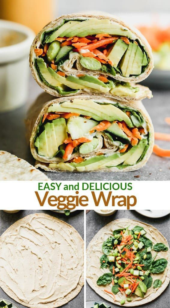 Veggie Wrap Recipe Easy Healthy Lunches Healthy Recipes Healthy