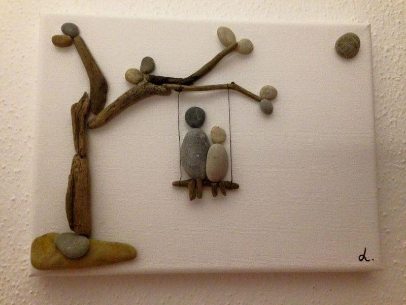 Bilderrahmen steinbild auf leinwand schaukeln ein designerst ck von vanessa link bei - Steinbilder auf leinwand ...