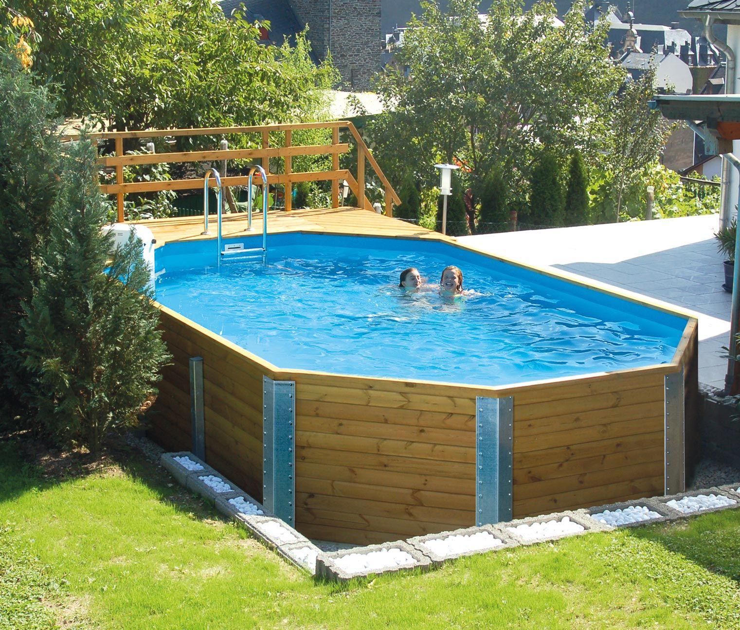 Weka Massivholz Gartenpool Pool Pool Designs Backyard Pool