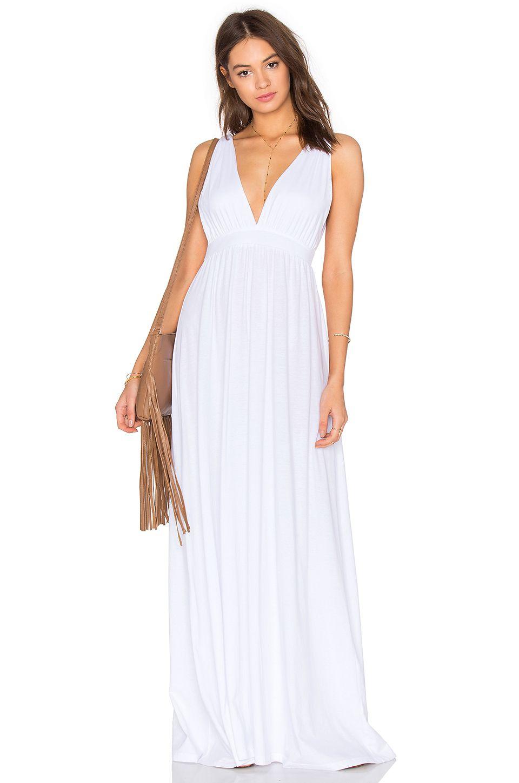 Bobi supreme jersey maxi tank dress in white from revolve