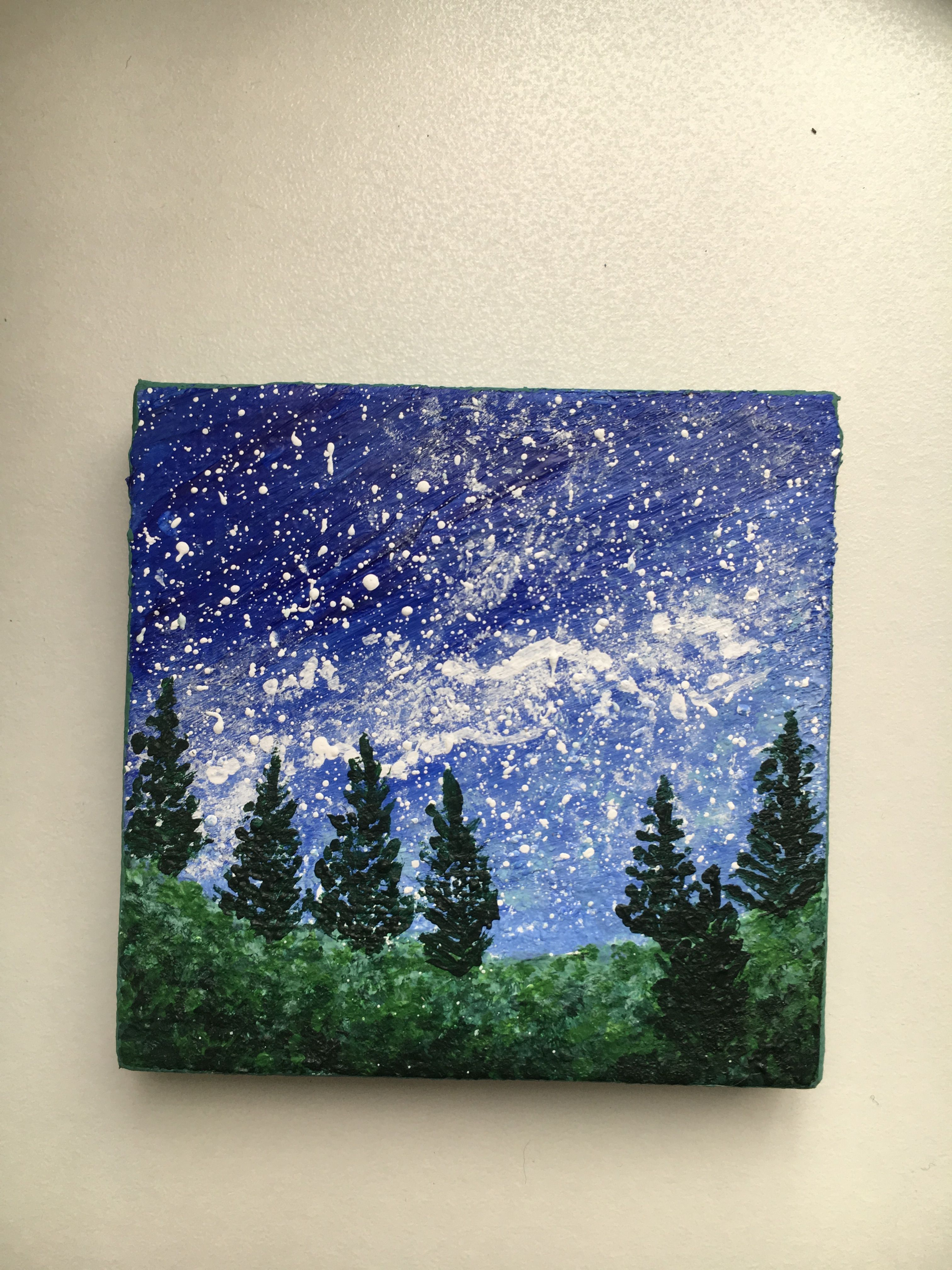Christmas Painting On Small Canvas Novocom Top