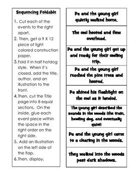 owl moon reading writing lesson activities worksheets bundle rh pinterest com Listening Comprehension Questions Comprehension Hand