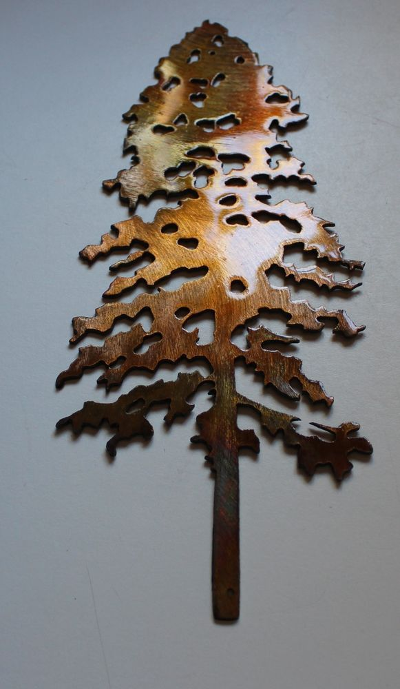 Pine Tree 10 Tall Metal Wall Art Decor