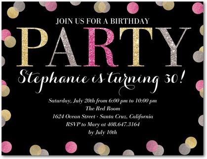 Glittered glow party invitation postcards in black or dark gray glittered glow party invitation postcards in black or dark gray hello little one filmwisefo