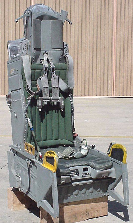 This is the ACES II Ejection Seat in which I helped design and develop  components on this. | Ejection seat, Aircraft interiors, Pilot seats