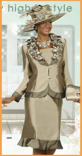 Women S Church Suits And Hats Champagne Italy Suits Champagne