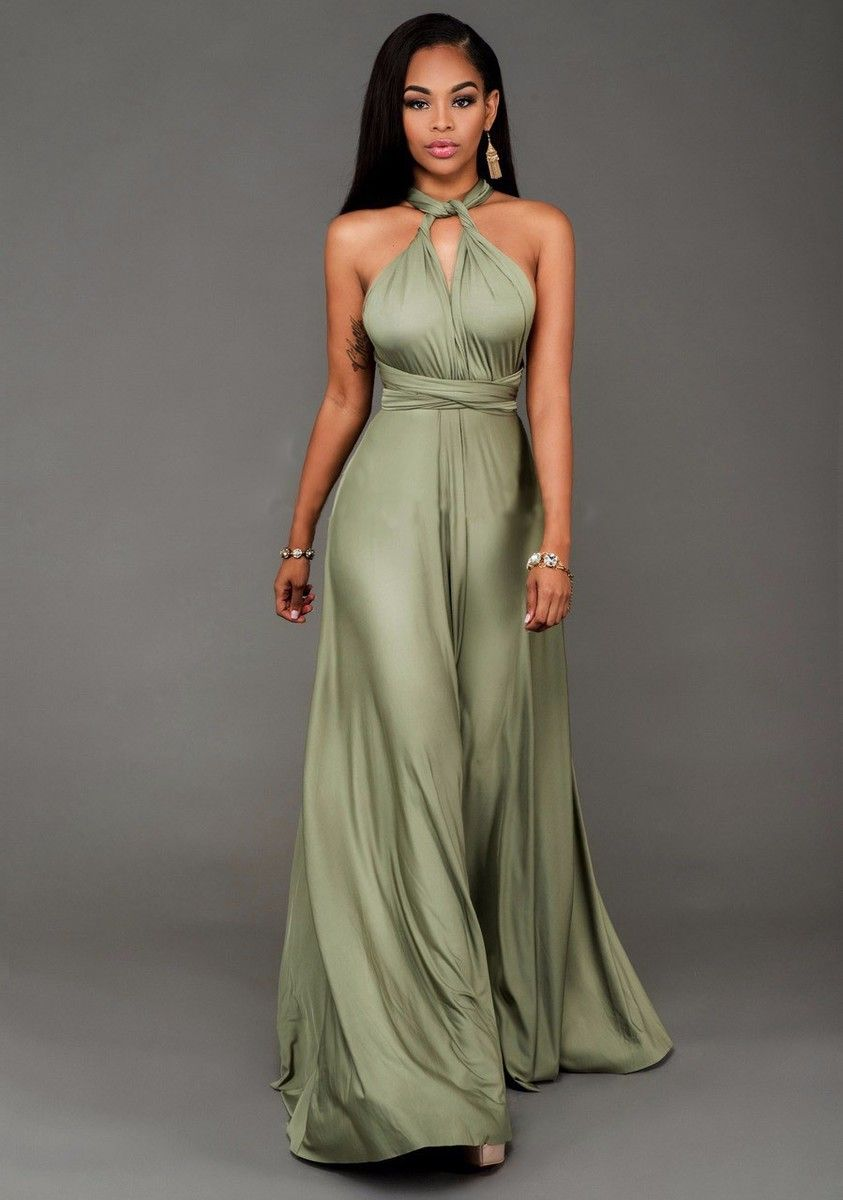 satin maxi dresses with sleeves