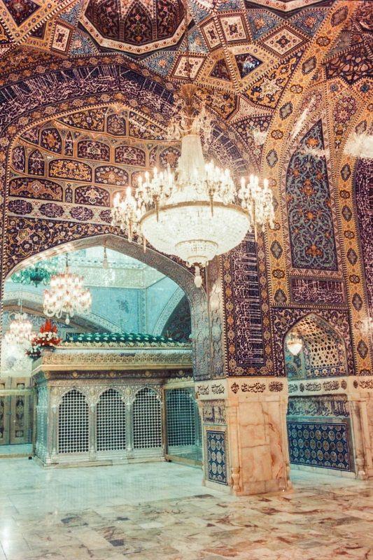 Dar-al-Shokr Porch ,Imam Reza shrine, Mashhad, Iran (Islamic Art)