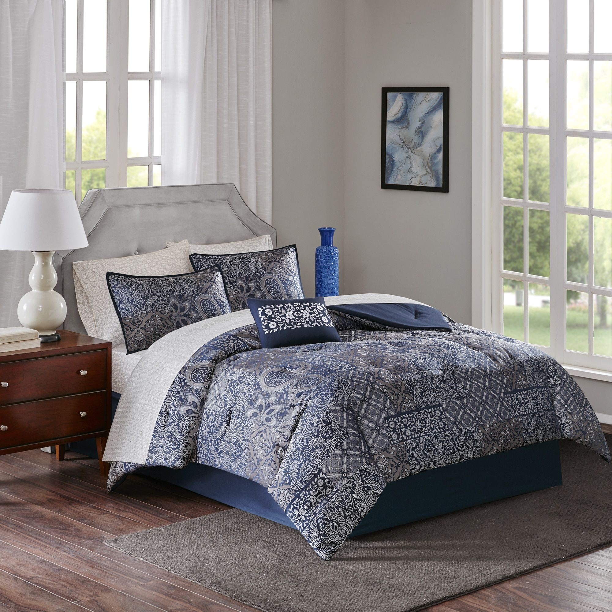 Blue,Queen Comforter Sets: Free Shipping on orders over $45! Bring the comfort in with a new bedding set from Overstock.com Your Online Fashion Bedding Store! Get 5% in rewards with Club O!