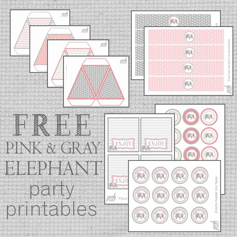 Gianna S Pink And Gray Elephant Nursery Reveal: Free Pink & Gray Elephant Party Printables For Any