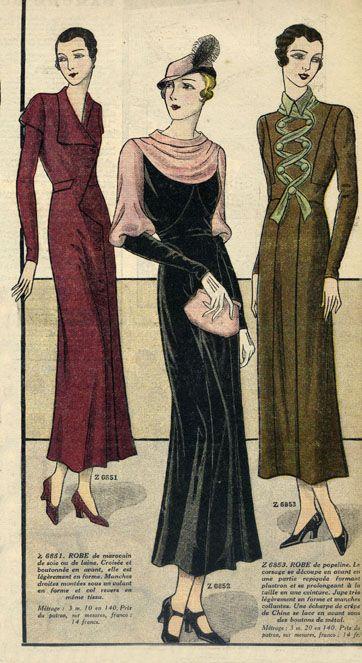 Fashion for Women, 1933 | Mode 1930 -1939 Jahren | Pinterest | Kleidung