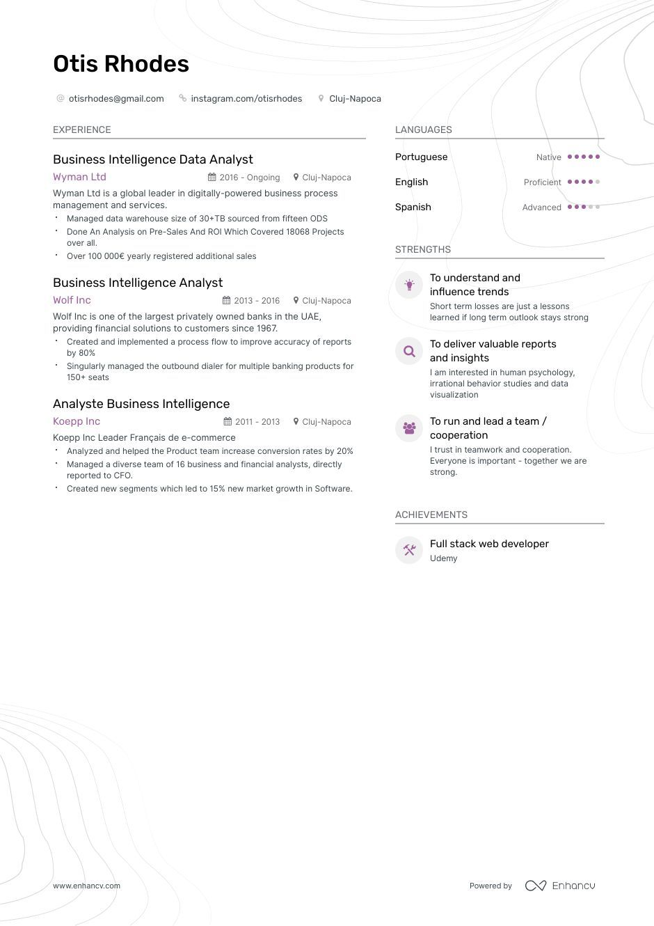 Business intelligence resume example and guide for 2019
