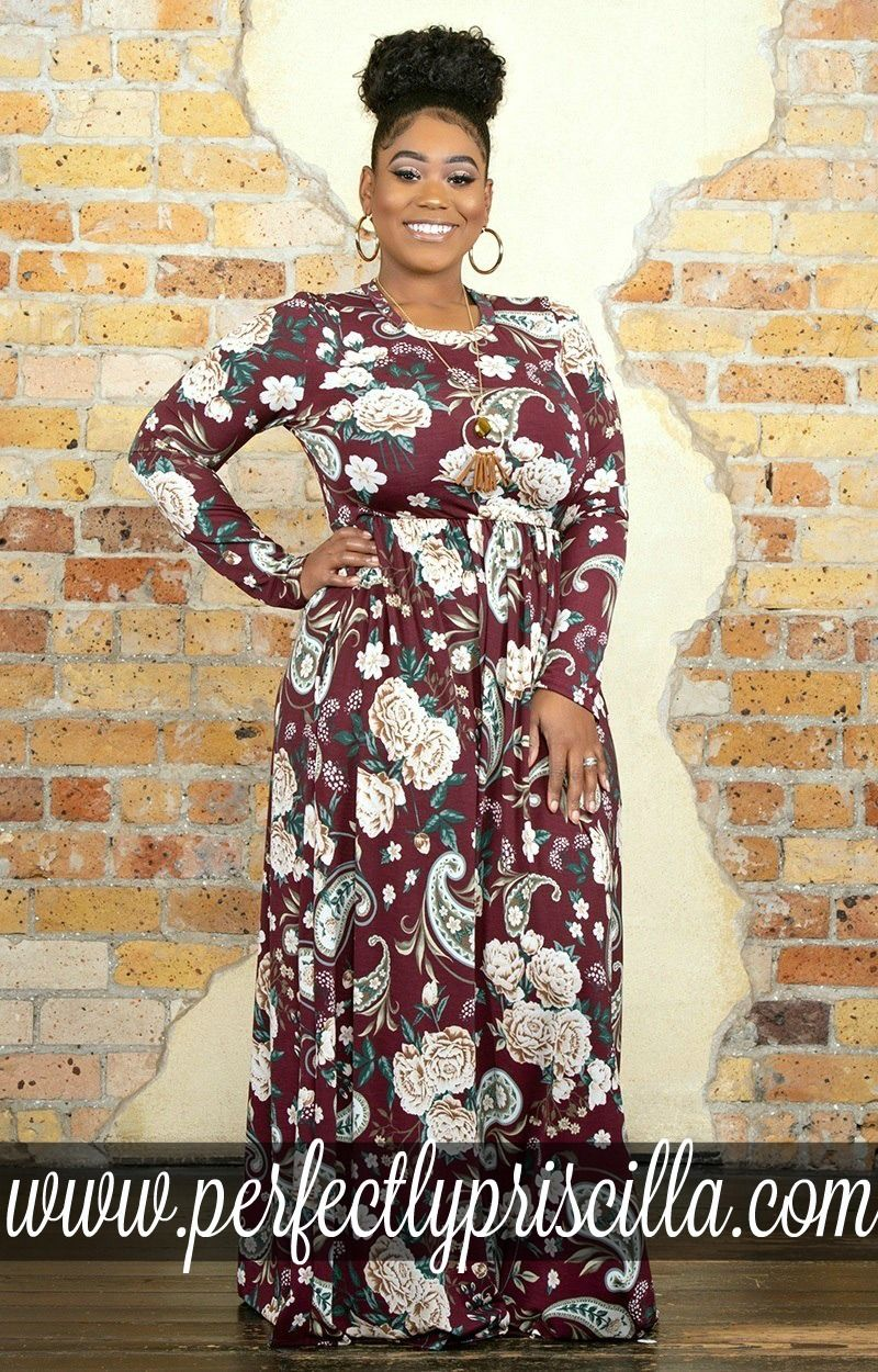 dress #maxi #floral #plussize #boutique #floral | 2018 Fall ...