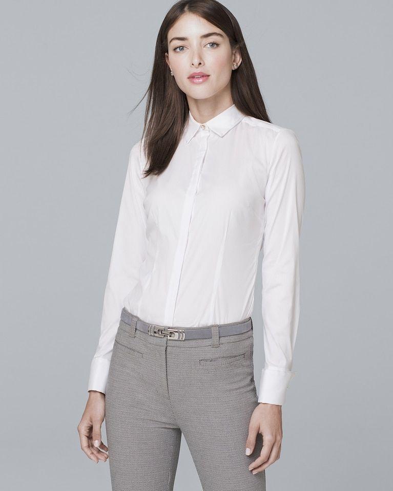 e9c4e852791387 Women's Classic Poplin Shirt by White House Black Market