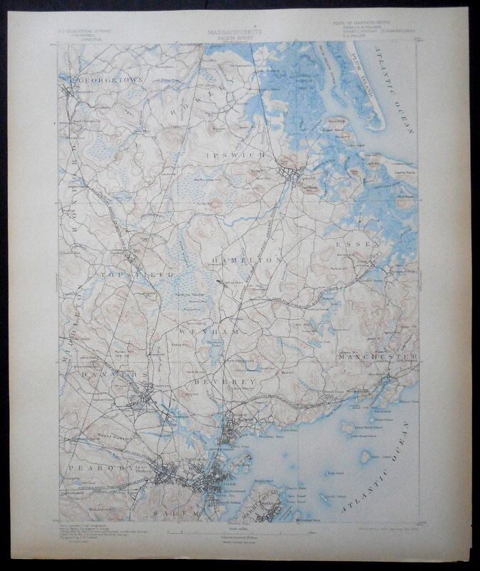 1902 map Salem Beverly Wenham Peabody Manchester Essex Ipswich