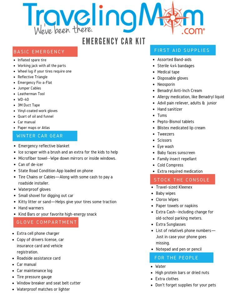 What to Pack in an Emergency Kit for the Car Car safety