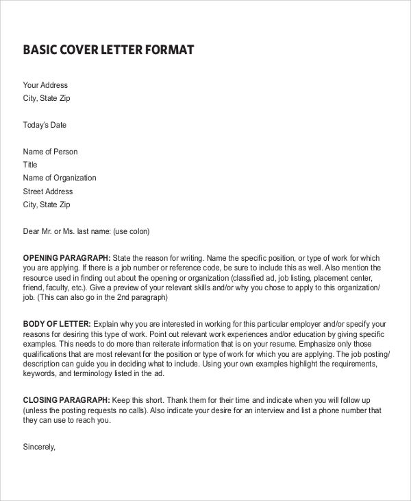 Basic Format For Resume Sample Resume Cover Letter Format Documents Pdf Word Basic Example .