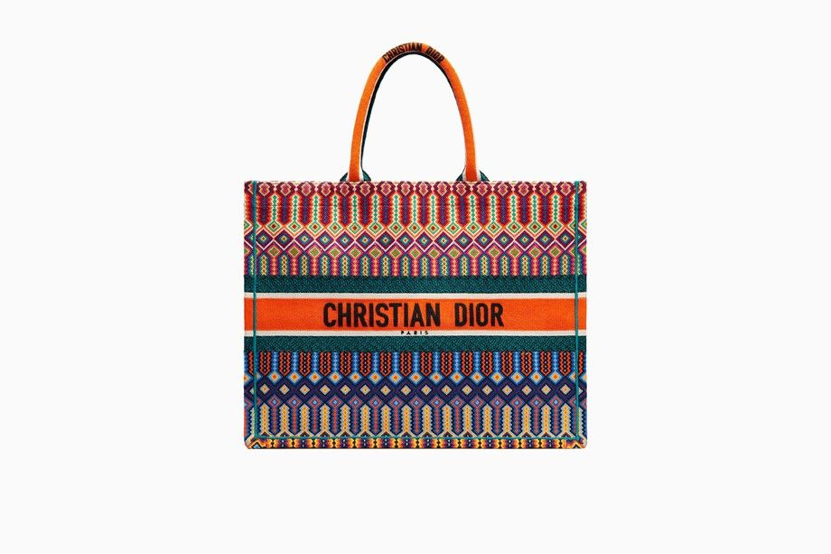 1bbf9409b4e7 Dior Book Tote bag in multi-coloured embroidered canvas - Dior Book Tote  Dior