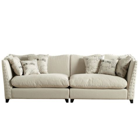 Sof 193 Lino Blanco Roto Natural Tones Furniture Sofa