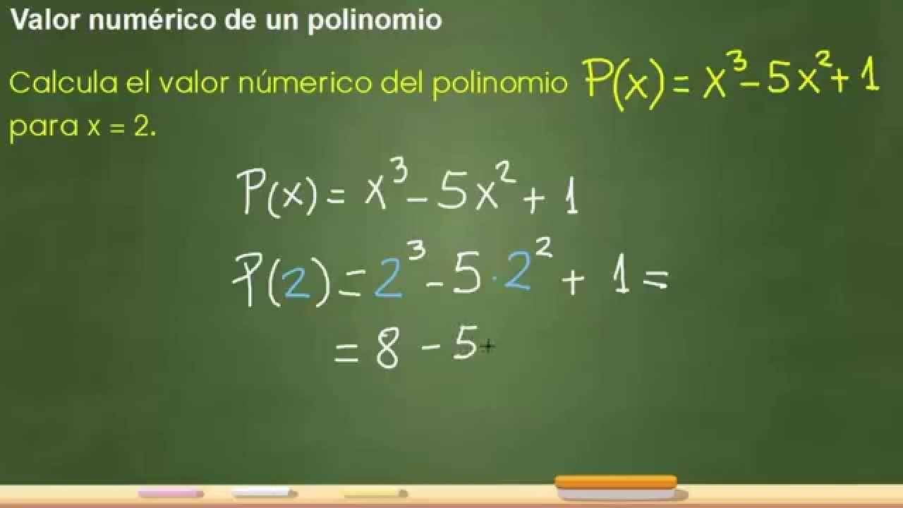 Cálculo Del Valor Numérico De Un Polinomio 2º Eso Jaqueenmates Educacion Secundaria Matematicas Secundaria